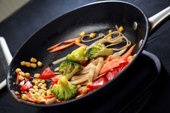 Vegetables on the pan Royalty Free Stock Image