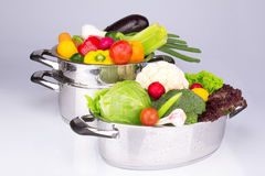 Vegetables in the pan. High quality Stock Image