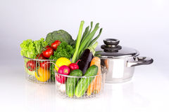 Vegetables in the pan. High quality Royalty Free Stock Photo