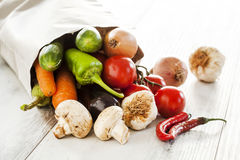 Vegetables in paper bag Royalty Free Stock Image