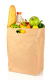 Vegetables in paper bag isolated Royalty Free Stock Photography