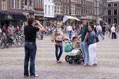 Vegetables Parade is a yearly event in the city of Delft Royalty Free Stock Images