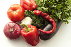 Vegetables, parsley and dil Stock Image