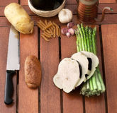 Vegetables, pasta and wine Royalty Free Stock Image