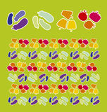 Vegetables pattern. Vector illustration of vegetables pattern Royalty Free Stock Image