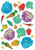 Vegetables pattern Stock Images