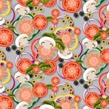 Vegetables_Pattern иллюстрация штока