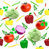 Vegetables pattern Stock Image