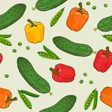 Vegetables pattern Stock Photo