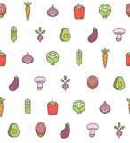 Vegetables pattern Royalty Free Stock Photo