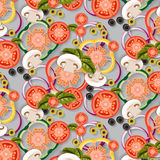 Vegetables_Pattern Stock Photography