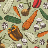 Vegetables pattern Stock Photos