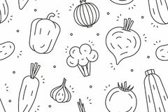 Vegetables Pattern stock illustration