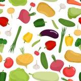 Vegetables pattern seamless. Vegetable organic food seamless pat Royalty Free Stock Photo