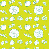 Vegetables pattern Royalty Free Stock Photos