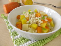 Vegetables with pearl barley Stock Photo