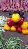 Vegetables pic in the market. Its a differnet colours looks in vegetables so click the pic stock image
