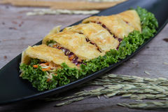 Vegetables pie, food closeup Stock Photo