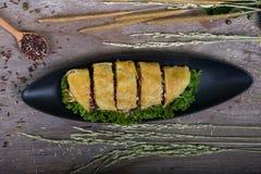 Vegetables pie, food closeup Stock Images