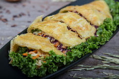 Vegetables pie, food closeup Stock Image