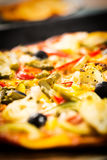 Vegetables pizza Royalty Free Stock Image