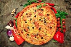 Vegetables pizza Stock Photos