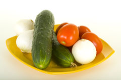 Vegetables On Plate Royalty Free Stock Photo