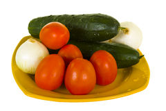 Vegetables On Plate Royalty Free Stock Photography