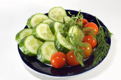 Vegetables on plate Royalty Free Stock Images