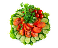 Vegetables on the plate Royalty Free Stock Photo