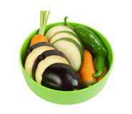 Vegetables on a plate Royalty Free Stock Photos