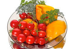 Vegetables on a plate Stock Photography