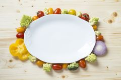 Vegetables plate stock photography