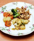 Vegetables in the plate Royalty Free Stock Images