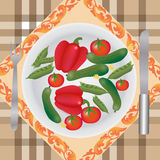 Vegetables on a plate Stock Photo