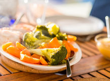 Vegetables on plate Stock Photos