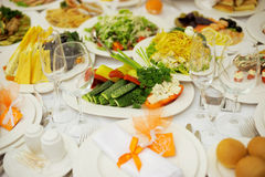 Vegetables on Plates Stock Photography