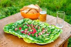 Vegetables on a platter Stock Photos