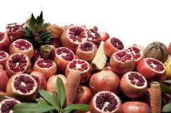 Isolated Pomegranate Pomegranates Stock Photos