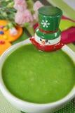 Vegetables and porridge Stock Photos