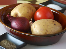 Vegetables in a pot Stock Images