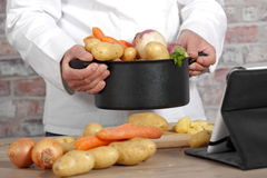 Vegetables for the preparation of pot-au-feu Royalty Free Stock Photo