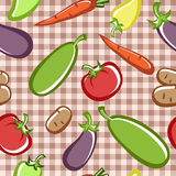 Vegetables. Preparation of vegetable dishes in the vector Stock Photo