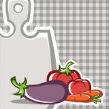 Vegetables. Preparation of vegetable dishes in the vector Stock Photos