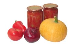 Vegetables and preserves Royalty Free Stock Photo