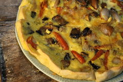 Vegetables quiche royalty free stock photos