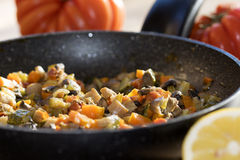 Vegetables ragout Royalty Free Stock Photos