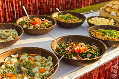 Vegetables ready to be eaten at the party Royalty Free Stock Images
