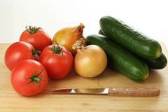 Vegetables ready to cut Stock Images