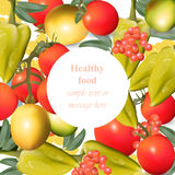 Vegetables Realistic healthy food pattern background for print, menu, advertise, shop, grocery. Etc Stock Photos